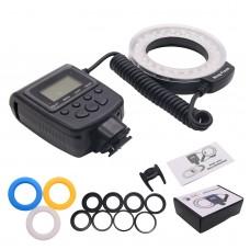 Macro LED Ring Flash Light Speedlight Speedlite for Canon Nikon Sony Hotshoe Olympus Panasonic Pentax GN15