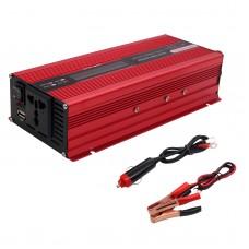 2000W Car Power Inverter DC 12V to AC 220V Solar Power Inverter LCD Display Red
