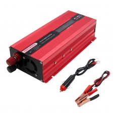 2000W Car Power Inverter DC 24V to AC 220V Solar Power Inverter LCD Display Red