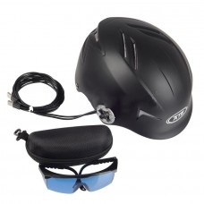 Laser Hair Cap 128 Diodes Laser Hair Growth Helmet Black + Glasses