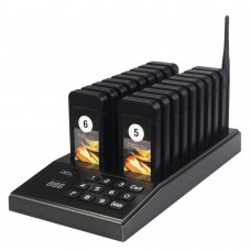 Restaurant Queue Wireless Calling System Wireless Queuing System + 18 Pagers SU-666