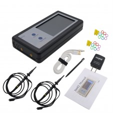 200KHz Digital Oscilloscope 2 Channel Mini Portable Oscilloscope Pocket Sized Touch Panel LCD D602