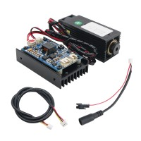 450nm 5.5W Laser Module + Controller Board with Heatsink Fan Support TTL for DIY Laser Engraver