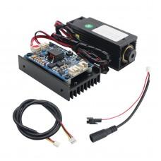 450nm 5.5W Laser Module + Controller Board with Heatsink Fan Support TTL for DIY Laser Engraver