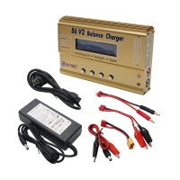 HTRC 80W B6V2 RC Battery Balance Charger Car Helicopter Balance Lipo NIMH Charger with Adapter