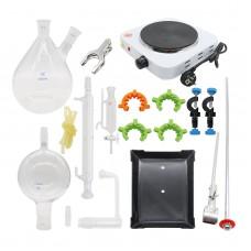 2000ml Glass Essential Oil Steam Distilling Apparatus Hydrosol Distillation Kit Graham