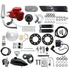 80cc Engine Motor Kit 2-Stroke for Motorized Bicycle Bike DIY + Speedometer