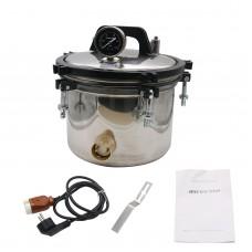 12L Pressure Steam Sterilizer Autoclave (Inner Bucket 8L) Anti-Burning Dual Heating High Pressure