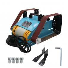 220V Bench Belt Sander 950W Desktop Double Belt Grinder Sanding Machine Polishing Tool