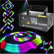 RGB Laser DMX RGB Stage Light 3D Effects DJ Red Green Blue Full TDM-RGB400