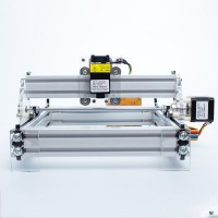Mini Laser Engraving Machine Desktop Carving Area 17*20cm Assembled Ready to Use 1720 Machine-2500MW