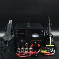 3 In 1 Soldering Rework Station 700W + Hot Air Gun + DC Power Supply 15V 1A 909D