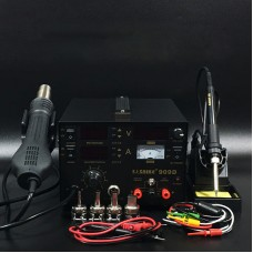 3 In 1 Soldering Rework Station 700W + Hot Air Gun + DC Power Supply 15V 1A 909D
