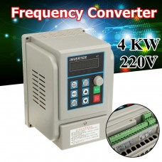 4KW 220V Variable Frequency Drive Converter Single Phase Input 3-Phase Output VFD for CNC Machine