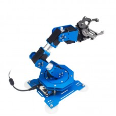 6DOF Robot Arm 6-Axis Aluminum Robotic Arm with Servos Unfinished Version for Arduino Scratch