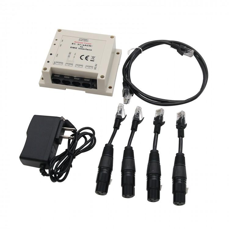 E1 31(sACN) to DMX Interface Bridge Controller 4 DMX512