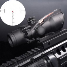 ACOG Scope 4x32 Tactical Scope Real Fiber Optic Red Illuminated Optical Sight