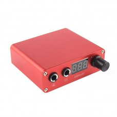 Mini USB Tattoo Power Supply Portable Design with LCD Display Screen Red