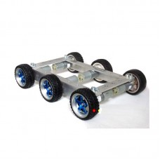 6WD Smart RC Car Chassis Kit Aluminum Alloy Frame + 12V Motors for DIY 7kg Load Capacity Unassembled
