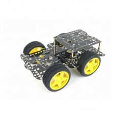 HJ-4WD Smart RC Car Chassis 2-Tier Line Tracking Obstacle Avoidance Robot Car Chassis Unassembled