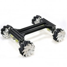 4WD Smart RC Car Chassis with 12V 300RPM High-Power Motors Large Load Capacity Assembly Needed Black