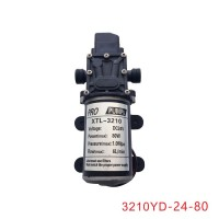 DC24V 80W 6L/min Micro Diaphragm Pump Pressure Switch for Agriculture Car Washing 3210YD-24-80