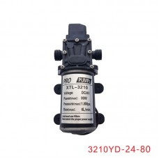 DC24V 80W 6L/min Micro Diaphragm Pump Pressure Switch for Agriculture Car Washing 3210YD-24-80