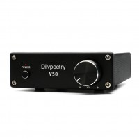 Digital Power Amplifier Audio 2 Channel 150W+150W TPA3116D2 HiFi Class D Amplifier V50 Black
