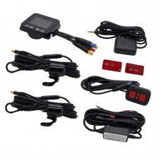 Motorcycle Camera Motorbike Dual Dash Cam Video Wide Angle DVR Camcorder+GPS