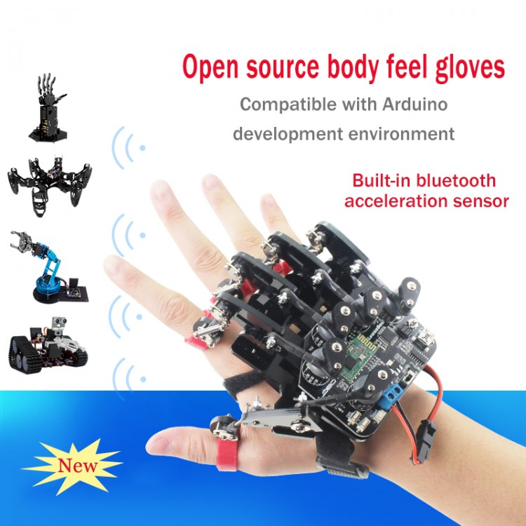 Open Source Bionic Robot Mechanical Hand 5-Fingers Arm for STM32 Version+Glove