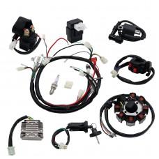 ATV Wiring Harness Full Electrics Wiring Harness Kit ATV QUAD 150/200/250CC Stator CDI
