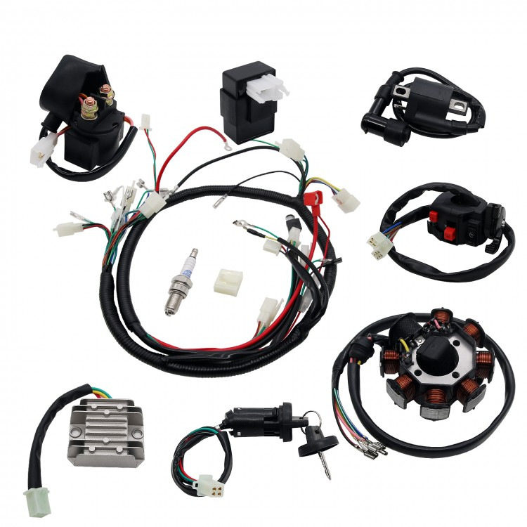 wiring harness kit for atv atv wiring harness full electrics wiring harness kit atv quad 150  electrics wiring harness kit atv quad