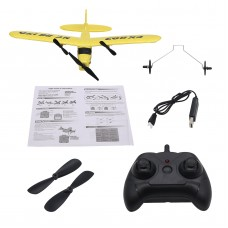 2CH Glider Airplane with Remote Controller Mini RC Airplane Great Gift Toys for Kids Children FX803