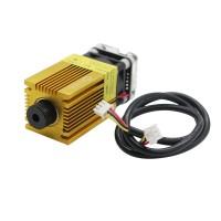 2500mW Laser Module 2.5W Blue Violet 445nm 3P 12V with TTL/PWM Adjustable Focus Golden