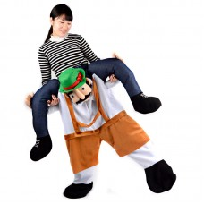 Unisex Piggy Back Costume Adult Carry Me Costume Adult Bavarian Beer Guy Costume Halloween Party