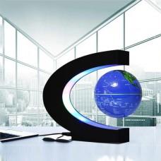 3'' Magnetic Levitation Floating Globe World Map C Shape with LED Light 3Inch Blue Globe