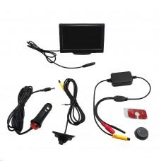 Car Rear View Backup Camera Night Version Wireless Car Rear View Camera 5'' Monitor