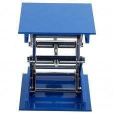 4Inch Lab Lift Platform Aluminum Lift Platform Stand Rack Blue 100*100mm
