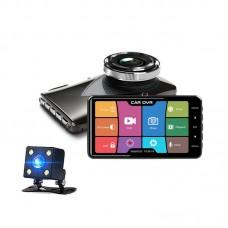 4'' Dual Car Dash Cam Front Rear Car DVR Camera Video Recorder Night Version Touch Screen B402CM