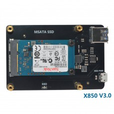 X850 V3.0 mSATA SSD Expansion Board for Raspberry Pi 1 Model B+/2 Model B / 3 Model B /3 Model B+