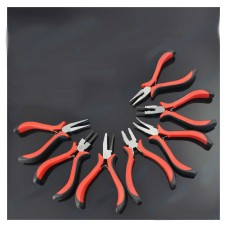 8pcs Mini Pliers 4.5Inch Jewelers Pliers w/Storage Bag for Fishing Jewelry Making Beading Wire DIY