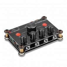 4-Channel Headphone Amplifier Splitter Independent Volume Control Master Volume Control P14 Black