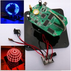 DIY Rotating 56-LEDs POV Clock Parts (Blue POV LED Parts Kit Unfinished + TTL Serial Downloader)