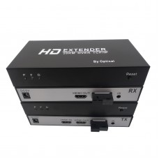Fiber Optic HDMI Extender 20KM Over TCP/IP By Optical Support 1080P Input