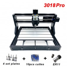 CNC 3018pro Laser Engraver 3-Axis PCB Milling Machine Wood Router w/ ER11 GRBL Unfinished Package 10