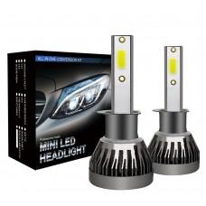 LED Headlight Bulbs H1 Car Headlight Bulbs COB Waterproof 6000K 36W/Pair MINI1-H1