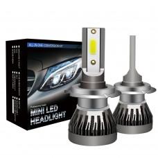 LED Headlight Bulbs H7 Car Headlight Bulbs COB Waterproof 6000K 36W/Pair MINI1-H7