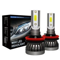 LED Headlight Bulb H11 H9 H8 Car Headlight Bulbs COB Waterproof 6000K 36W/Pair MINI1-H8H9H11