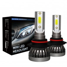 LED Headlight Bulbs 9005 HB3 H10 LED Bulb 6000K COB Waterproof 36W/Pair MINI1-9005HB3H10