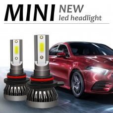 LED Headlight Bulb 9012 LED Bulb 6000K COB Waterproof 36W/Pair MINI1-9012